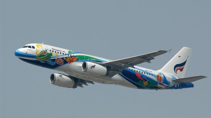 bangkok airways airplane