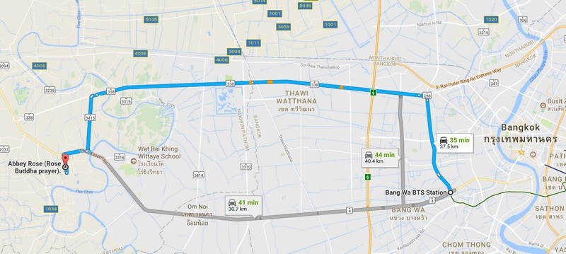map to wat samphran