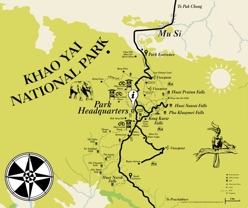 khao yai park map